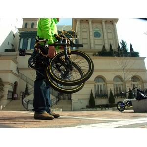 WACHSEN(ヴァクセン) 20インチアルミ折畳自転車 ブラック&イエロー 自転車用アクセサリ4種セット付き