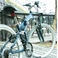 TRAILER(トレイラー) 26インチ 折りたたみマウンテンバイク 18段変速付き MTR-2618-BL ブルー+ブラケット式ワイヤーロック+LED白色ライト