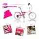 HEAVEN's(ヘブンズ) 20インチ カラフル折り畳み自転車 BGC-106-PK 6段変速 ピンク