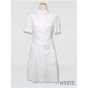 ブランドシャツワンピース ホワイト Mサイズ