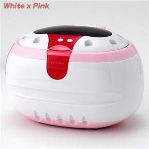 超音波洗浄器 VERONA ホワイト×ピンク
