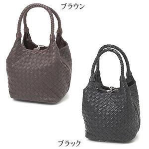 MONTANA ラム革&牛革 イントレチャートMiniバッグ 0461 ブラック