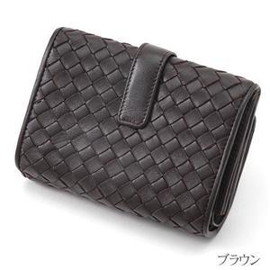 MONTANA ラム革&牛革 蛇腹式イントレチャート財布 4001 ブラウン