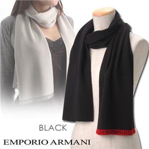 EMPORIO ARMANI マフラー 7W071 BLACK
