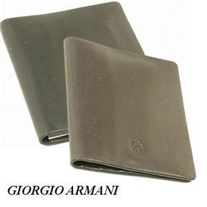 GIORGIO ARMANI(ジョルジオ アルマーニ) カードケース YA026-80001 ブラック カーフ