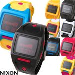 NIXON(ニクソン) LODOWN ユニセックスウォッチ  530-008/ブラック×レッド・メンズ