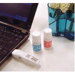 USB aroma time スターターセット「ON」(本体色ピュアホワイト オイル付)