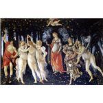世界の名画シリーズ、最高級プリハード複製画 サンドロ・ボッティチェルリ作 「春<プリマベーラ>」