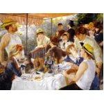 世界の名画シリーズ、プリハード複製画 ピエール・オーギュスト・ルノアール作 「舟遊びをする人々の昼食」(P50号大サイズ版)の詳細ページへ