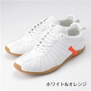 ARMANI JEANS メンズレザーシューズ B6V6350(white&orange) サイズ42