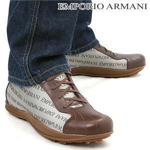 EMPORIO ARMANI メンズレザーシューズ XEU155 サイズ42