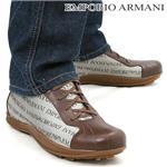 EMPORIO ARMANI メンズレザーシューズ XEU155 サイズ43