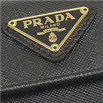 プラダ 1M0523 SAFIANO ORO Wホック BK