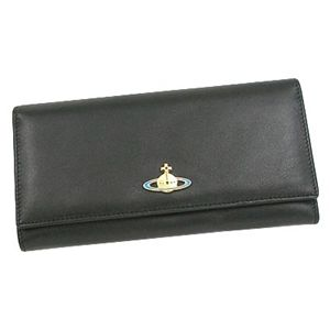 Vivienne Westwood(ヴィヴィアンウエストウッド) 2800 NAPPA 財布 BK/GO