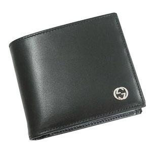 GUCCI(グッチ) 115217-A490N-1000 2つ折小銭入 BK