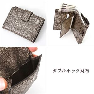 CELINE(セリーヌ) 財布 WLAMINATED GRAIN ダブルホック財布/10749