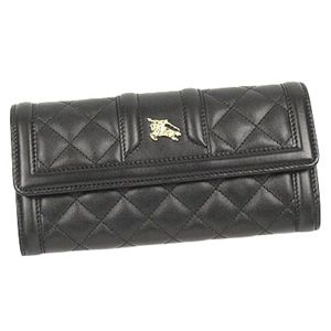 BURBERRY(バーバリー) QUILTED LEATHER 長財布 MOLLY BLACK