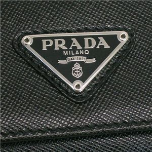 Prada (プラダ) 1M0222 SAFF ORO NERO 1 キーケースBK