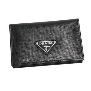 Prada (プラダ) 1M1122 SAFF ORO NERO 1カードケーBK