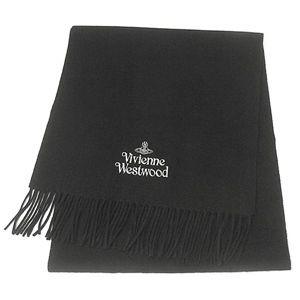 Vivienne Westwood ロゴ刺繍マフラー ブラック