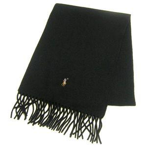 Ralph Lauren ポニー刺繍 カラーマフラー 605855 Black