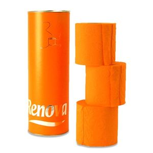RENOVA(レノヴァ) トイレットロール 3巻/筒入 オレンジ 2802