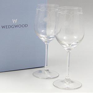Wedgwood(ウェッジウッド) ワイルドストロベリクリスタル ワイングラスペア 3665