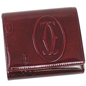 商品画像Cartier/カルティエ 三つ折り財布(小銭入れ付) L3000720 ハッピーバースディ/ワイン