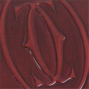 03Cartier/カルティエ 三つ折り財布(小銭入れ付) L3000720 ハッピーバースディ/ワイン