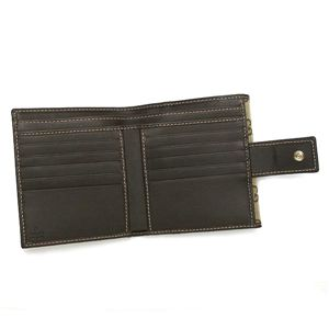 01GUCCI|グッチ 二つ折り財布[小銭入れ付] 181594 FFPAG 9643|ベージュ/ダークブラウン