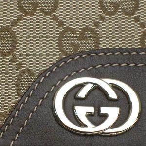 04GUCCI|グッチ 二つ折り財布[小銭入れ付] 181594 FFPAG 9643|ベージュ/ダークブラウン