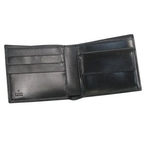 GUCCI(グッチ) 二つ折り財布(小銭入れ付) 190402 A490N 1000 ブラック