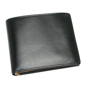 NICOLA FERRI(ニコラフェリー)二つ折り財布(小銭入れ付)370202ブラック