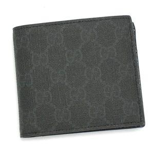 GUCCI(グッチ)二つ折り財布(小銭入れ付) 118379 F069R 1073 ブラック