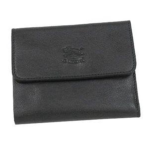 IL BISONTE(イルビゾンテ)三つ折り財布(小銭入れ付) C0595P ブラック