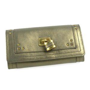 CHLOE(クロエ)長札財布 8E P041 008 ブロンズ