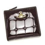 Vivienne Westwood(ヴィヴィアンウエストウッド)二つ折り財布(L字ファスナー)1424ダークブラウン