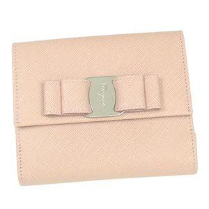 FERRAGAMO(フェラガモ)Wホック財布 22A209 ピンク