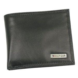 TOMMY HILFIGER(トミーヒルフィガー)二つ折り財布(小銭入れ付)96487301ブラック