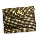Vivienne Westwood(ヴィヴィアン ウエストウッド) 三つ折り財布(小銭入れ付) NEW SLOANE 4526 ゴールド