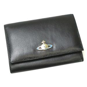 Vivienne Westwood(ヴィヴィアン ウエストウッド) 二つ折り財布(小銭入れ付) NAPPA 746 ブラック/ゴールド