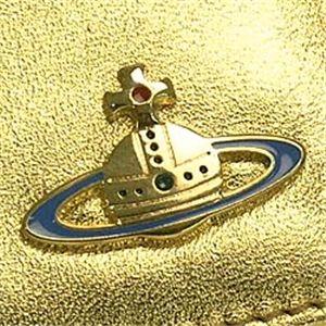 Vivienne Westwood(ヴィヴィアン ウエストウッド) 二つ折り財布(小銭入れ付) NAPPA 746 ゴールド