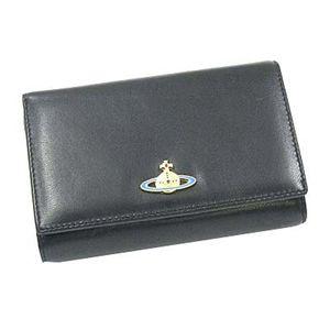 Vivienne Westwood(ヴィヴィアン ウエストウッド) 二つ折り財布(L字ファスナー) NAPPA 2232 ブラック/ゴールド