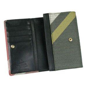 Vivienne Westwood(ヴィヴィアン ウエストウッド) 二つ折り財布(小銭入れ付) DERBY 2232 ダーク.カーキー