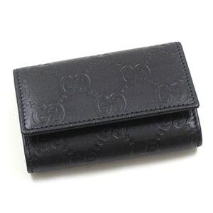 キーケース【GUCCI】グッチGUCCI(グッチ) キーケース 138093 BASIC KEY-CASE ブラック