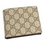 GUCCI(グッチ) 二つ折り財布(小銭入れ付) 118379 COIN WALLET ベージュ/ダークブラウン