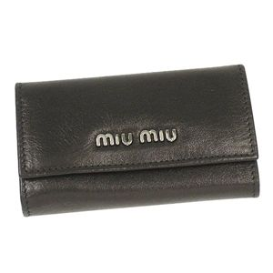 Miu Miu(ミュウミュウ) キーケース 5M0222 GABA ブラック