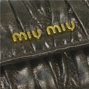 Miu Miu(ミュウミュウ) キーケース 5M0222 MATELASSE LUX グレー