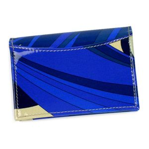 Emilio Pucci(エミリオプッチ) カードケース 96SE02 ブルー