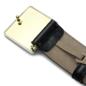Dolce&Gabbana(ドルチェ&ガッバーナ) ベルト BC2493 QUADRATA BICOLOR LO ブラック 95